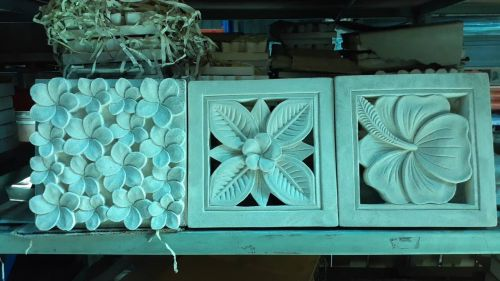 花磚 壁磚 巴里島雕花石版--手工雕刻30*30 雞蛋花