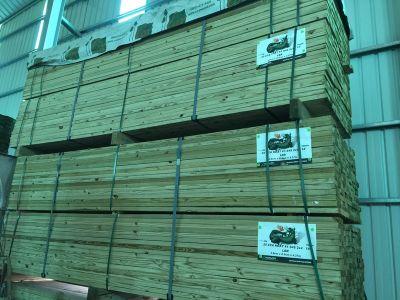 美國南方松防腐木料3.8*8.9*300cm (2X4-10尺/原裝/高磅/結構1級)