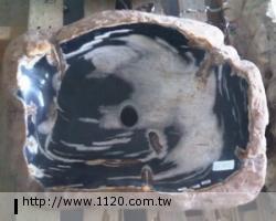衛浴精品-萬年木化石/臉盆P22-1