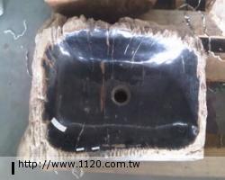 衛浴精品-萬年木化石/臉盆P22-2