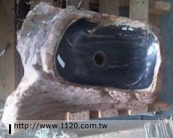 衛浴精品-萬年木化石/臉盆P22-3