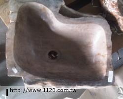 衛浴精品-萬年木化石/臉盆P23-4