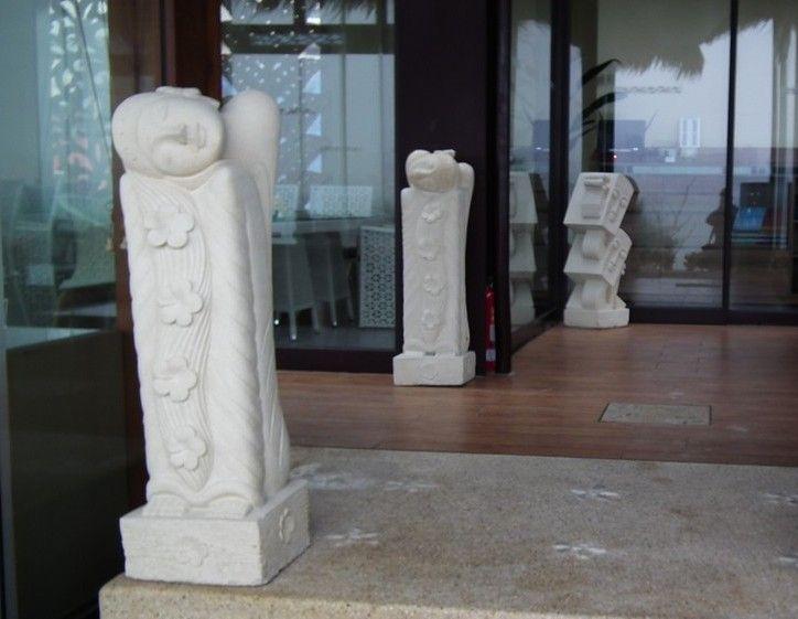 沙岩雕像 H100  **花柱,雕花石柱,villa