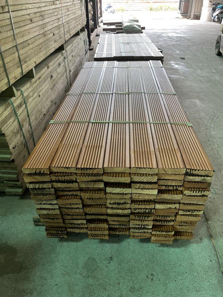 太平洋鐵木地板 3.5X15X300CM (止滑溝)
