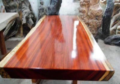 頂級大桌板料 紫心木 寬120 X 厚11CM 長度600